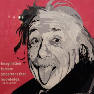 Albert Einstein Tongue Poster