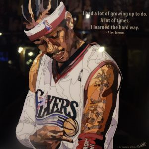 "Allen Iverson Poster Plaque with Quote ""I had a lot of growing up to do"