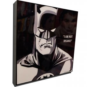 """Batman Animated Series Poster Plaque with Quote""""I am not Insane!"""""""