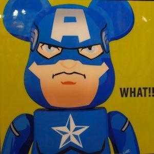 Be@rBrick Captain America poster