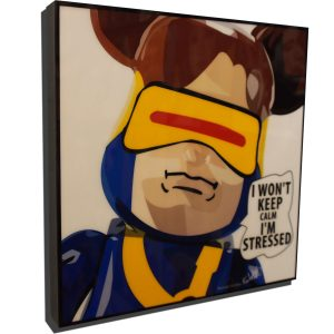 """Be@rBrick Cyclops Inspired Plaque Mounted Poster """"Keep calm"""""""