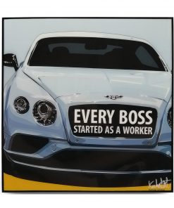 Bentley Continental Pop Art Poster by Keetatat Sitthiket