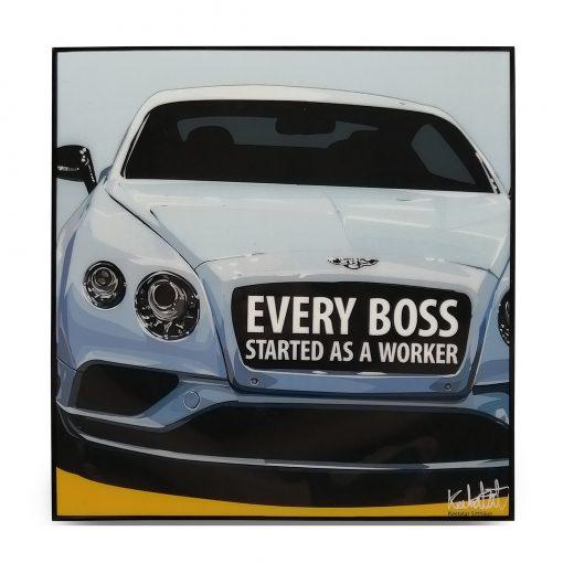 Bentley Continental Pop Art Poster by Keetatat Sitthiket