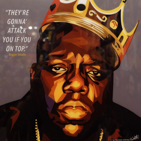 """Biggie Smalls Best Quotes: Biggie Smalls Inspired Mounted Plaque """"Attack You If You"""