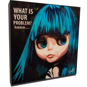 Blue Hair Blythe poster