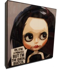Black Hair Blythe Poster Black Hair Grey Background
