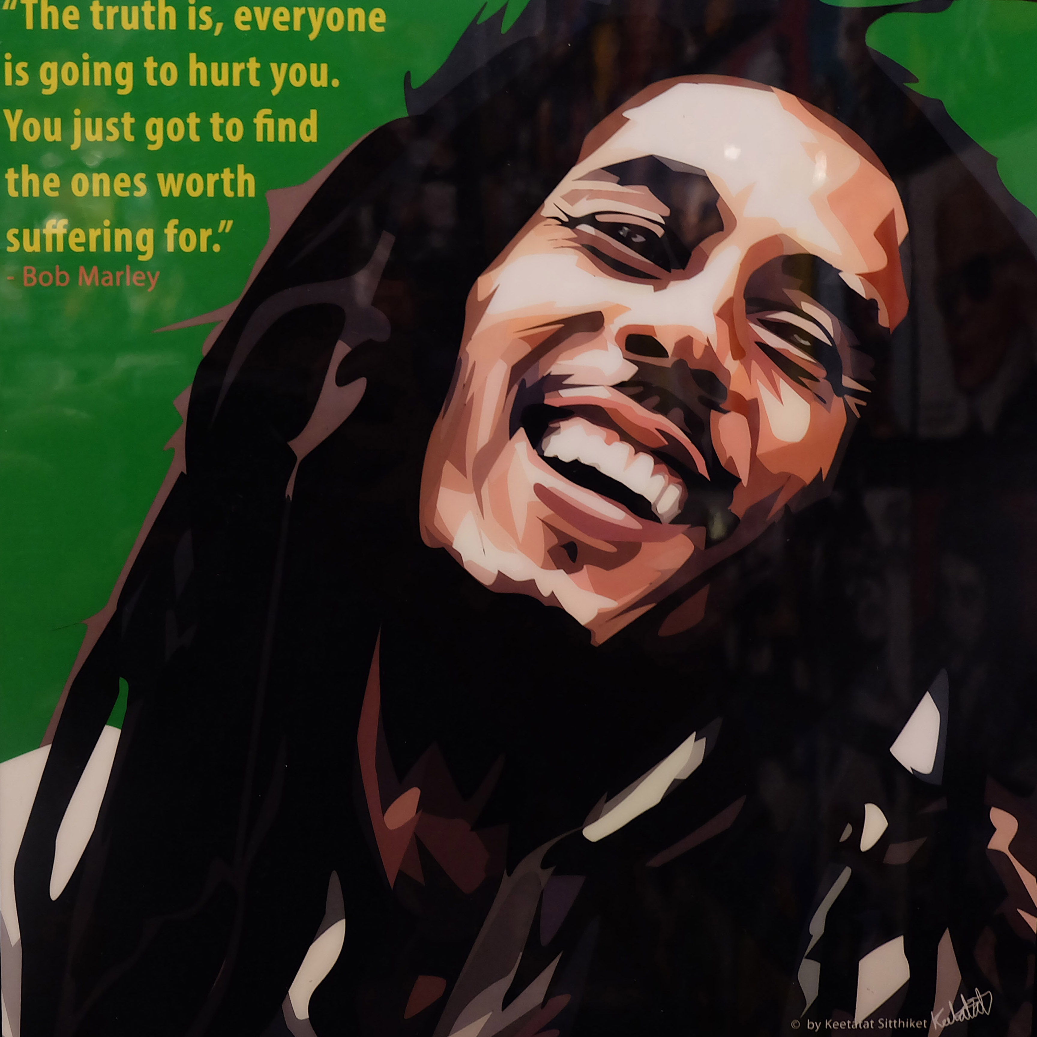 """Bob Marley Poster """"The truth is, everyone is ..."""