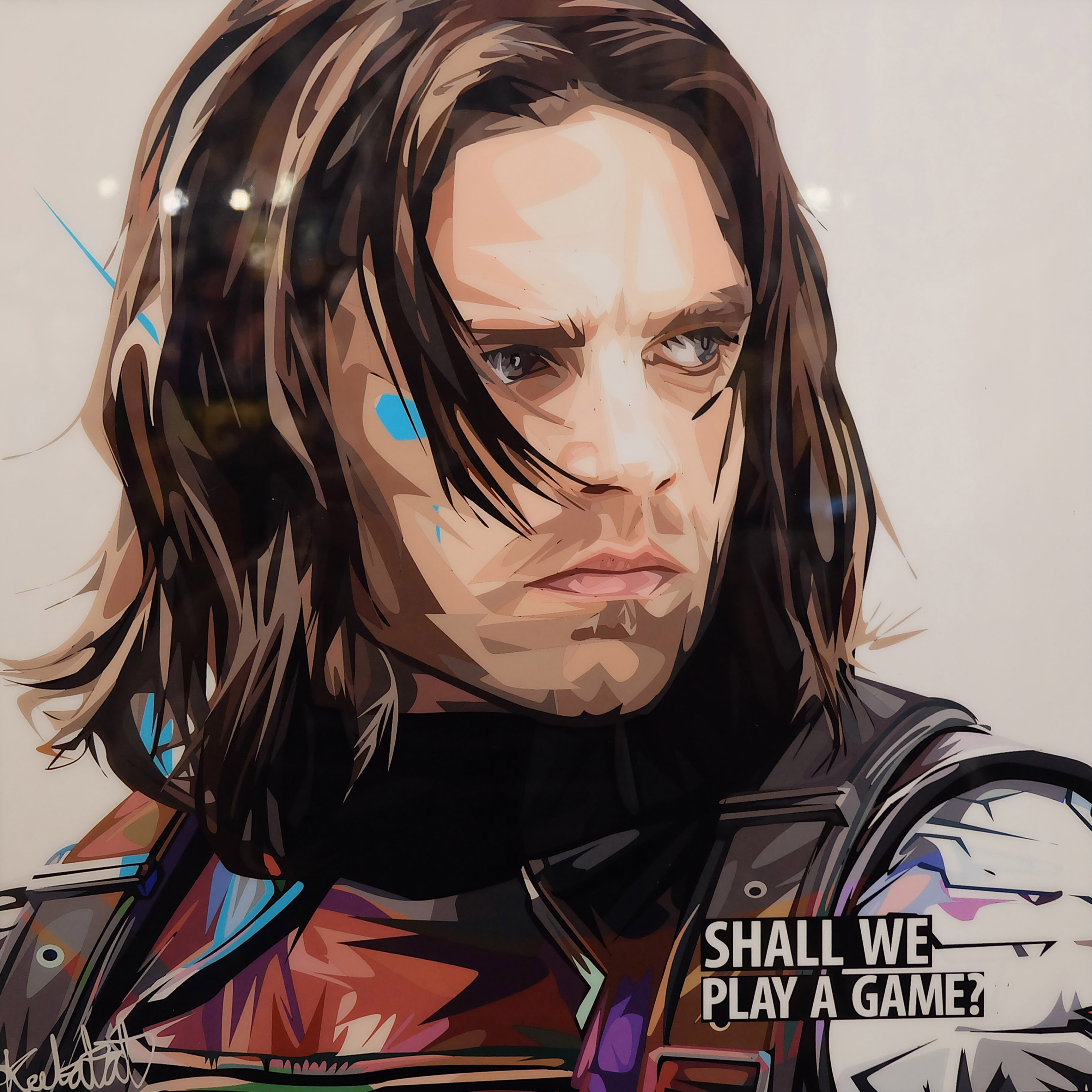 Bucky Barnes Poster Quot Shall We Play A Game Quot Infamous