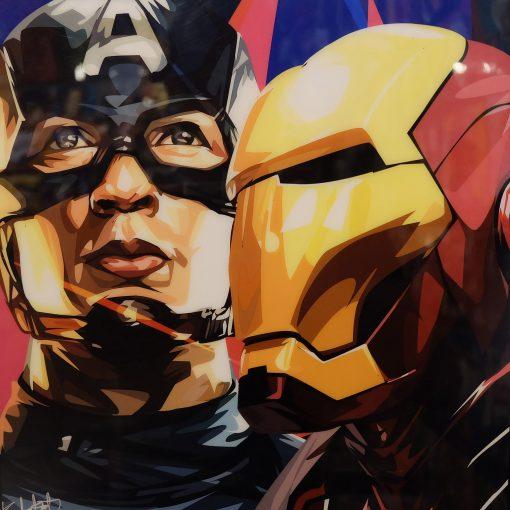 Captain America & Iron Man Poster