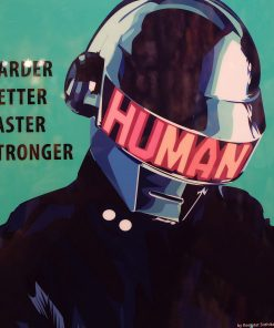 Daft Punk Poster Harder Better Faster Stronger