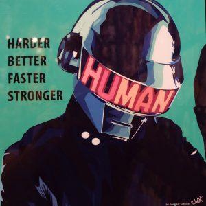 Daft Punk Poster Harder Better Faster Stronger