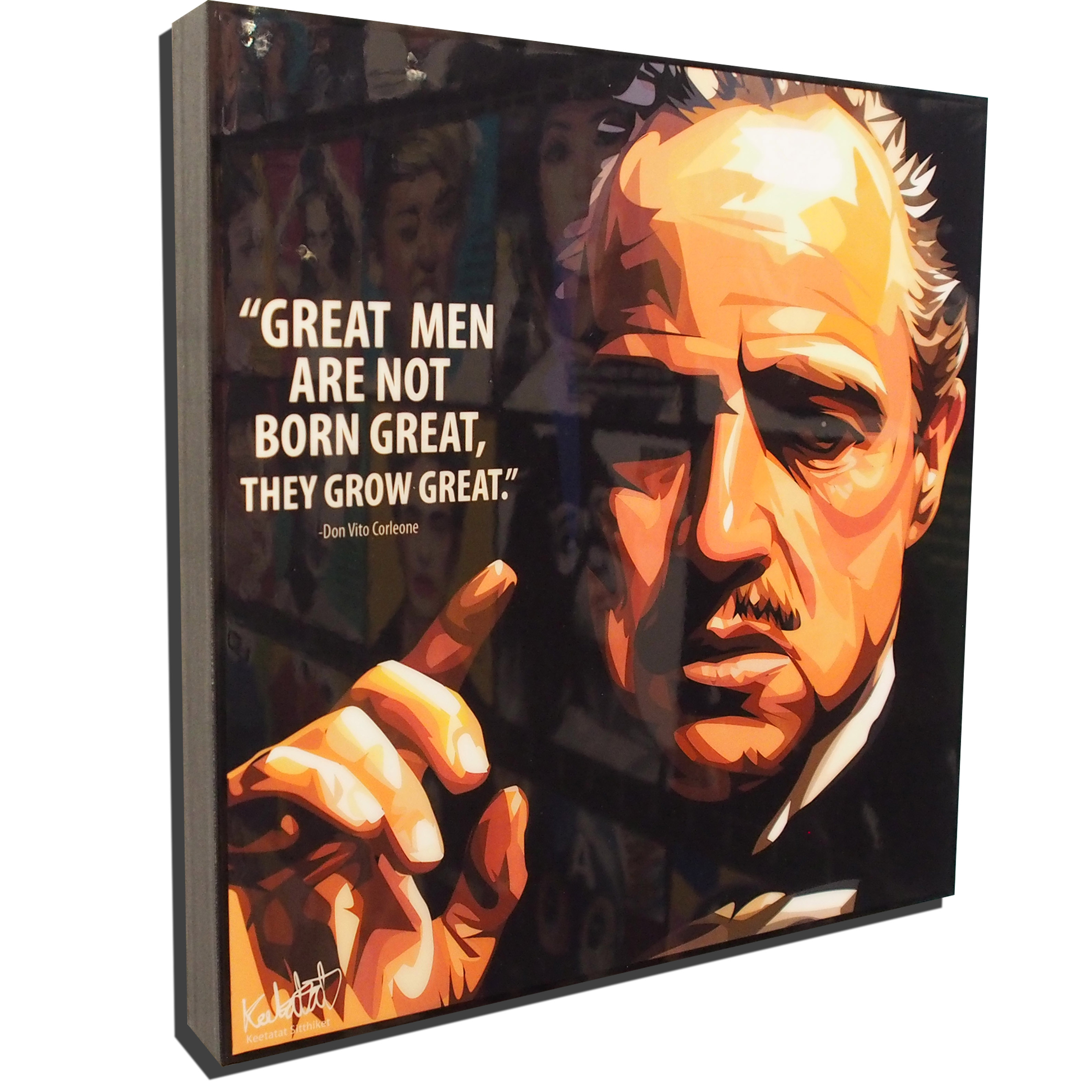 don vito corleone poster plaque great men infamous inspiration