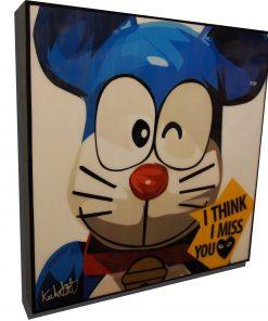 Doraemon BearBrick Poster, Doraemon Be@rBrick Poster