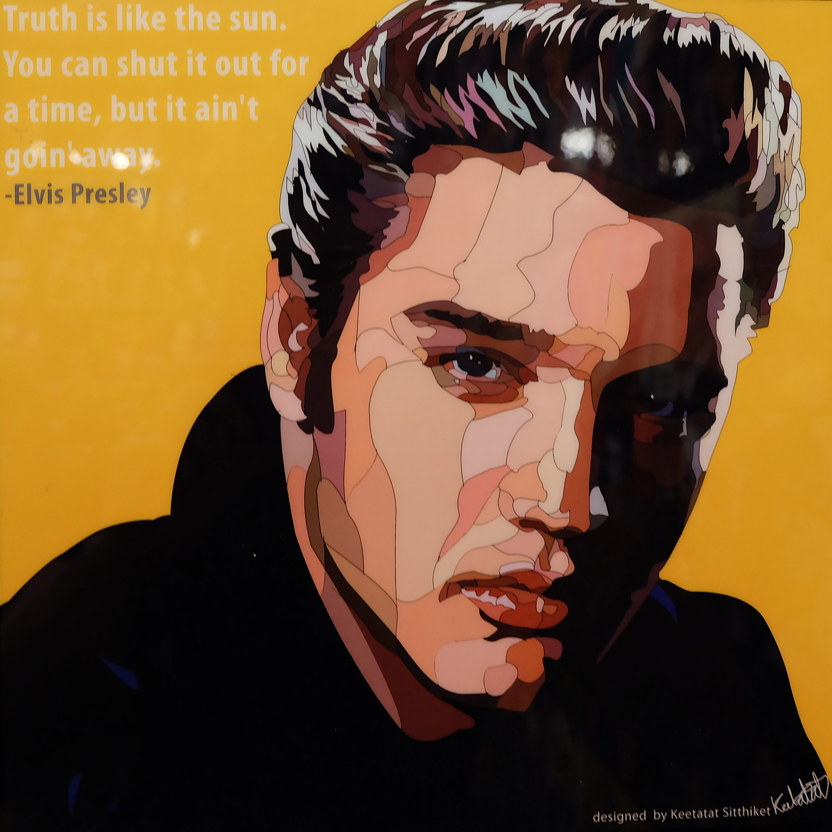 Elvis Presley Poster Truth Is Like The Sun