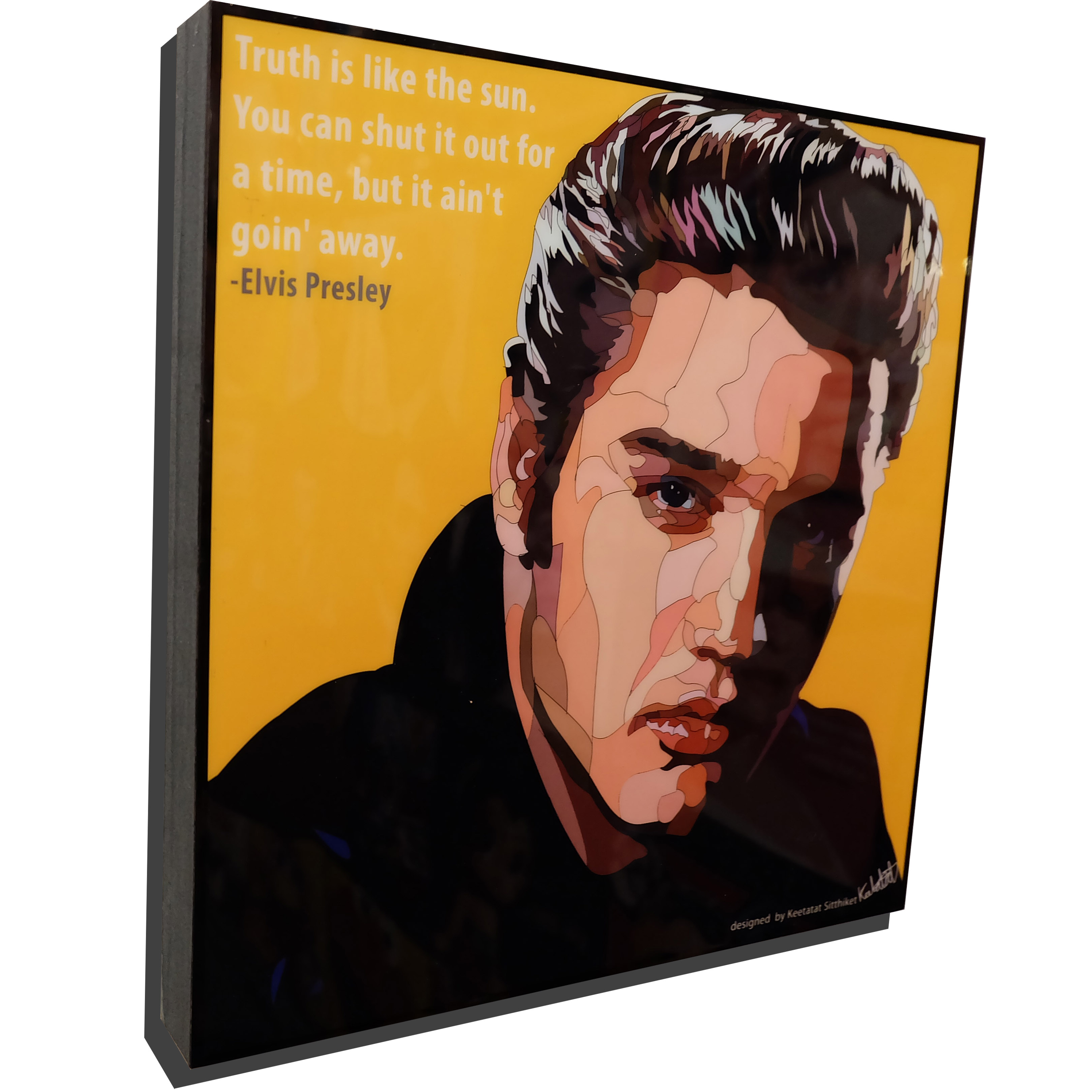 "Elvis Presley Pop Art Poster ""Truth Is Like The Sun"