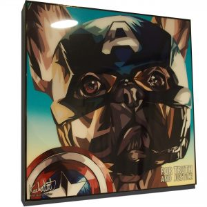 French Bulldog Captain America poster