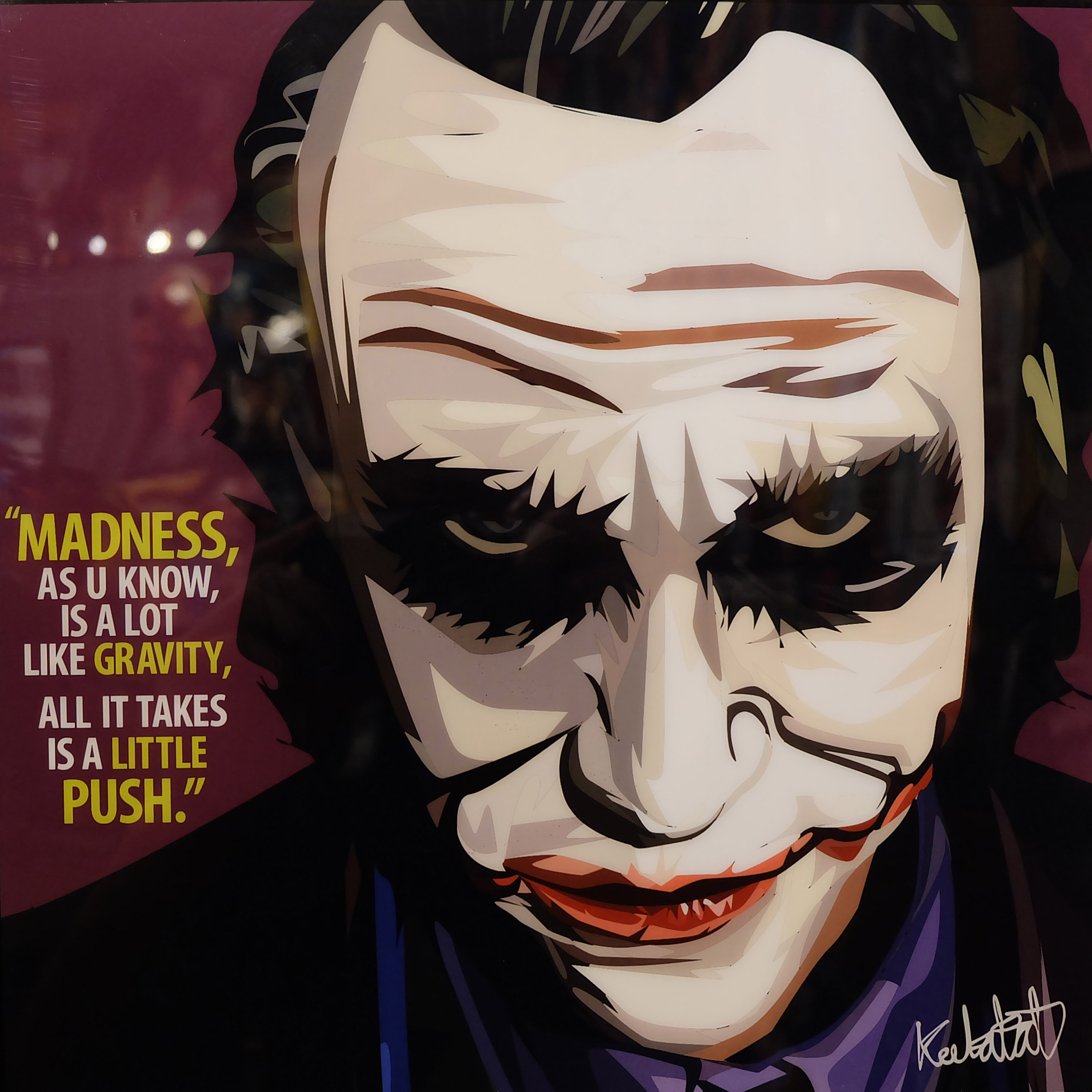 "Heath Ledger Joker Poster ""Madness, As U Know"