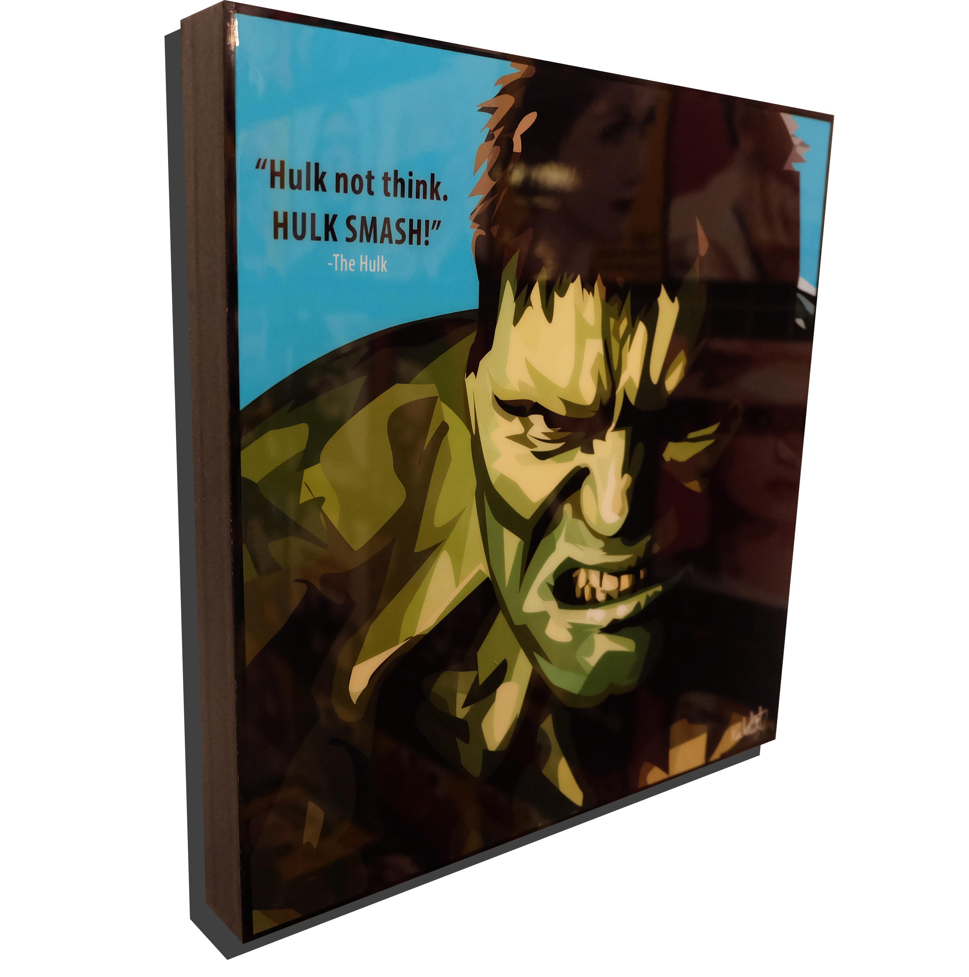 """Incredible Hulk Poster """"Hulk not think. HULK ..."""
