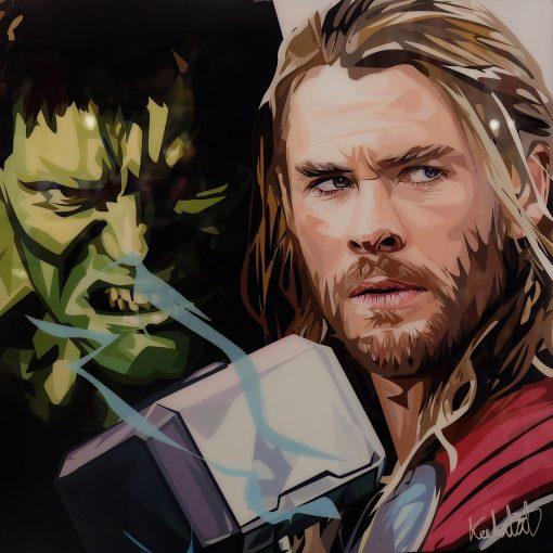Incredible Hulk & Thor Poster