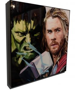 Incredible Hulk vs Thor Poster