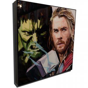 Incredible Hulk vs Thor Poster