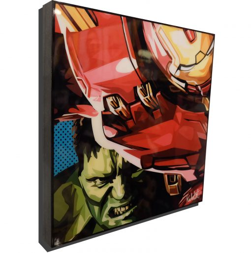 Incredible Hulk vs HulkBuster Poster