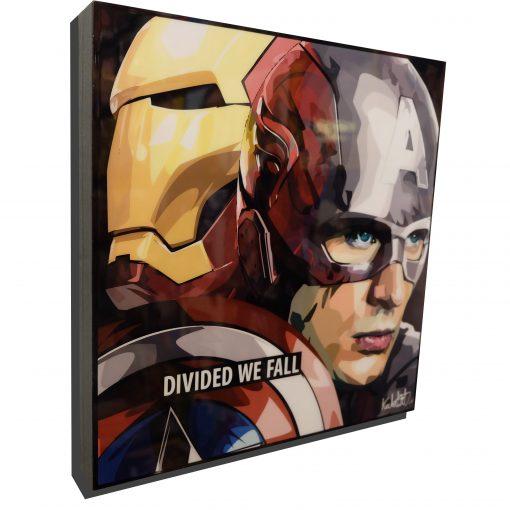 Iron Man Vs Captain America Poster