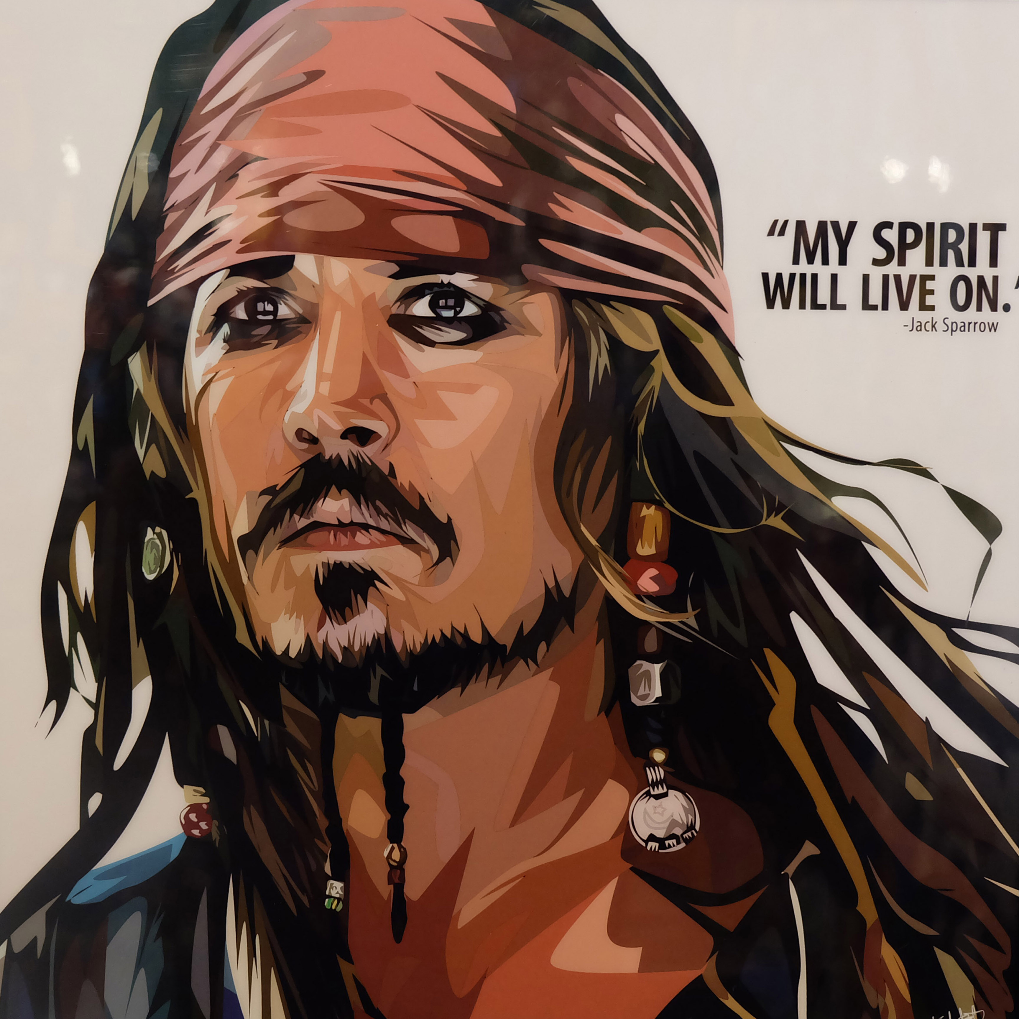 "Jack Sparrow Poster Plaque ""My spirit will live on ..."