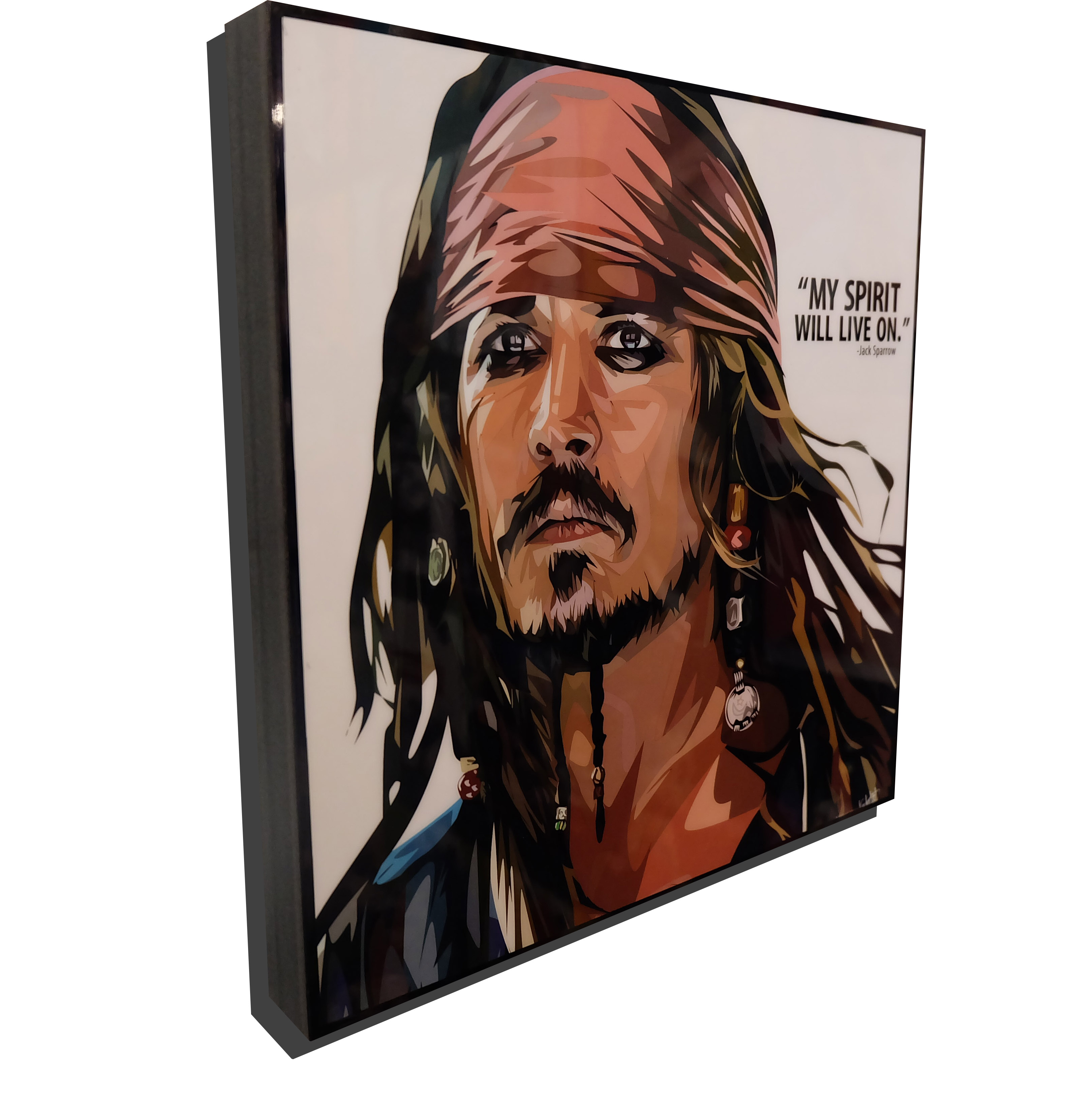 """Jack Sparrow Poster Plaque """"My Spirit Will Live On"""