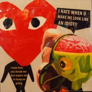 KAWS Companion meets Play Poster Plaque