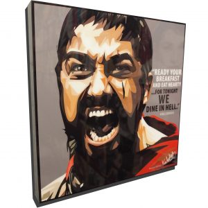 King Leonidas Poster Plaque