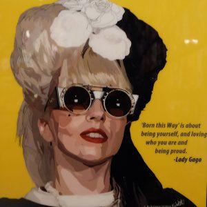 Lady gaga Poster Plaque