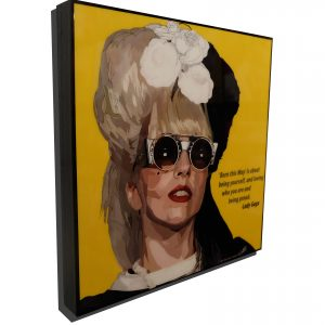Lady gaga Poster Plaque