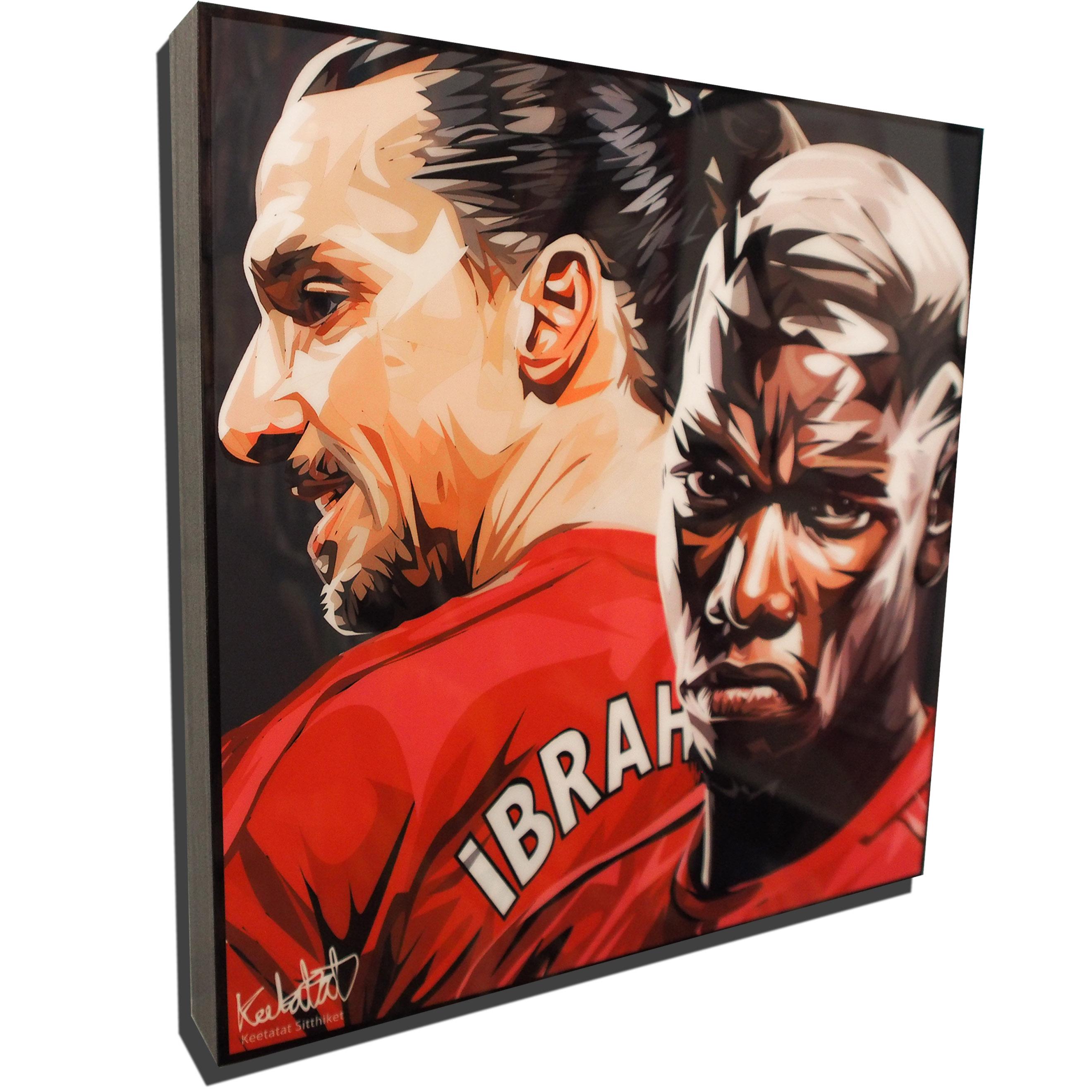 8a1f8c330e67a Zlatan Ibrahimović & Paul Pogba Inspired Plaque Mounted Poster