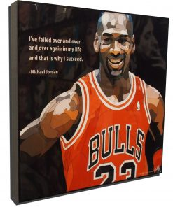 Michael Jordan Pop Art Poster That is why I succeed