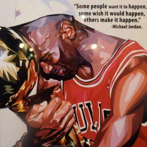 Michael Jordan Poster Plaque