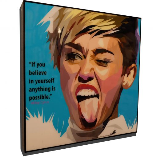 Miley Cyrus Poster Plaque