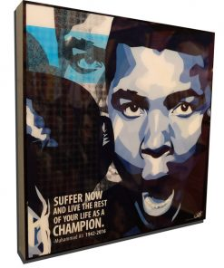 suffer now and live forever as a champion poster