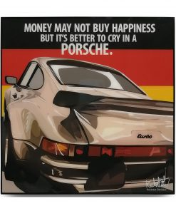 Porsche 911 Turbo Pop Art Poster by Keetatat Sitthiket