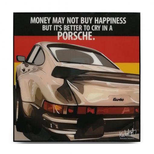 Porsche 911 Turbo Pop Art Poster by Keetatat Sitthiket