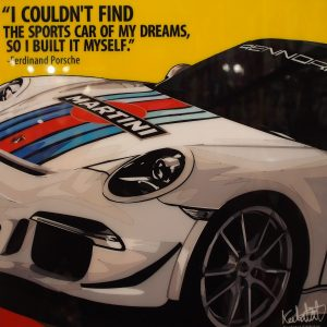 Porsche 991 Martini Poster