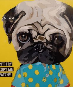 Pug Poster Plaque
