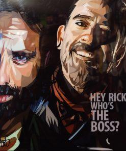 Rick & Negan Poster