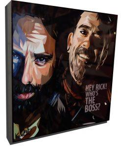 Rick vs Negan Poster