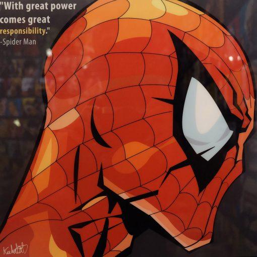 Spider Man Poster Plaque