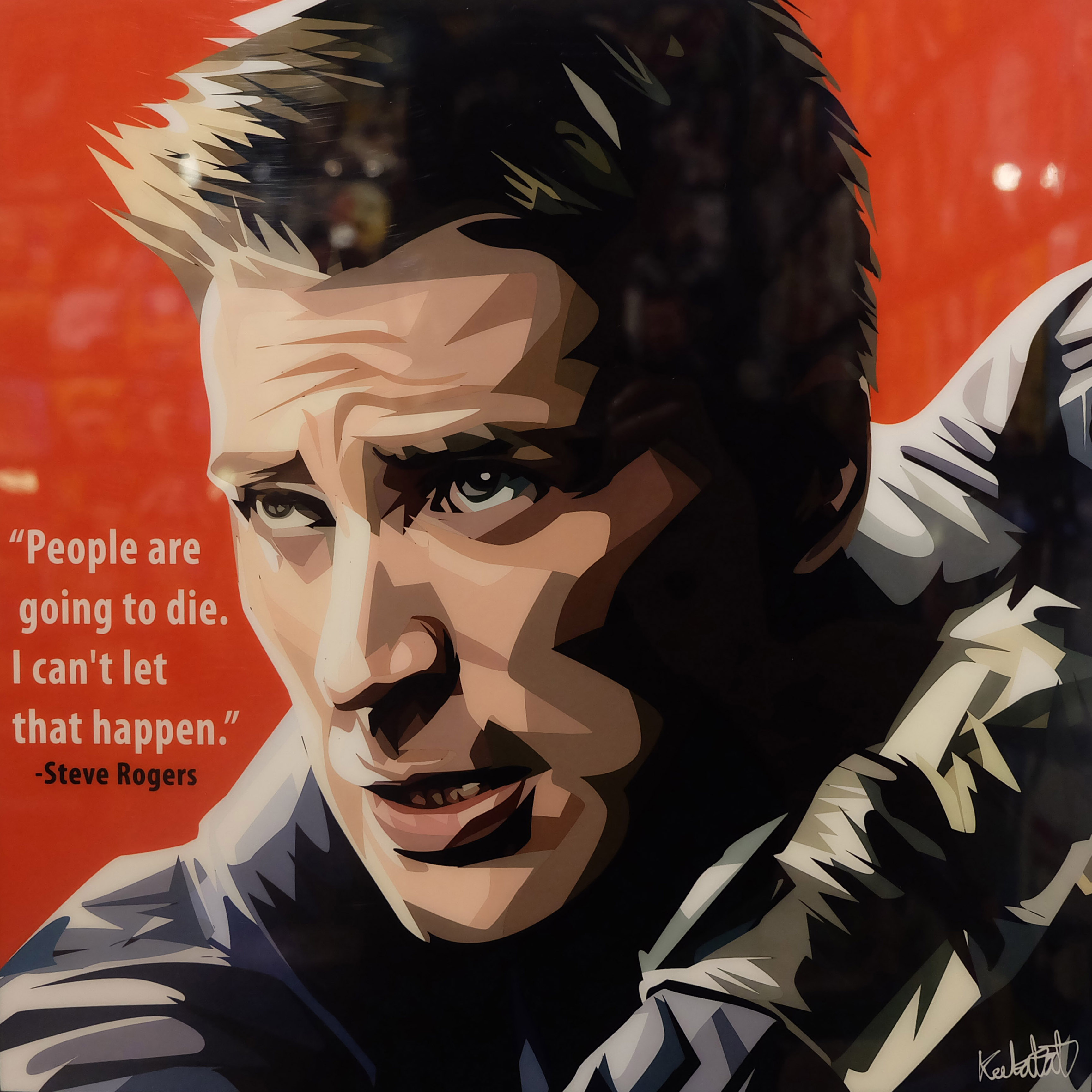 """steve rogers poster """"people are going to die"""" - infamous inspiration"""