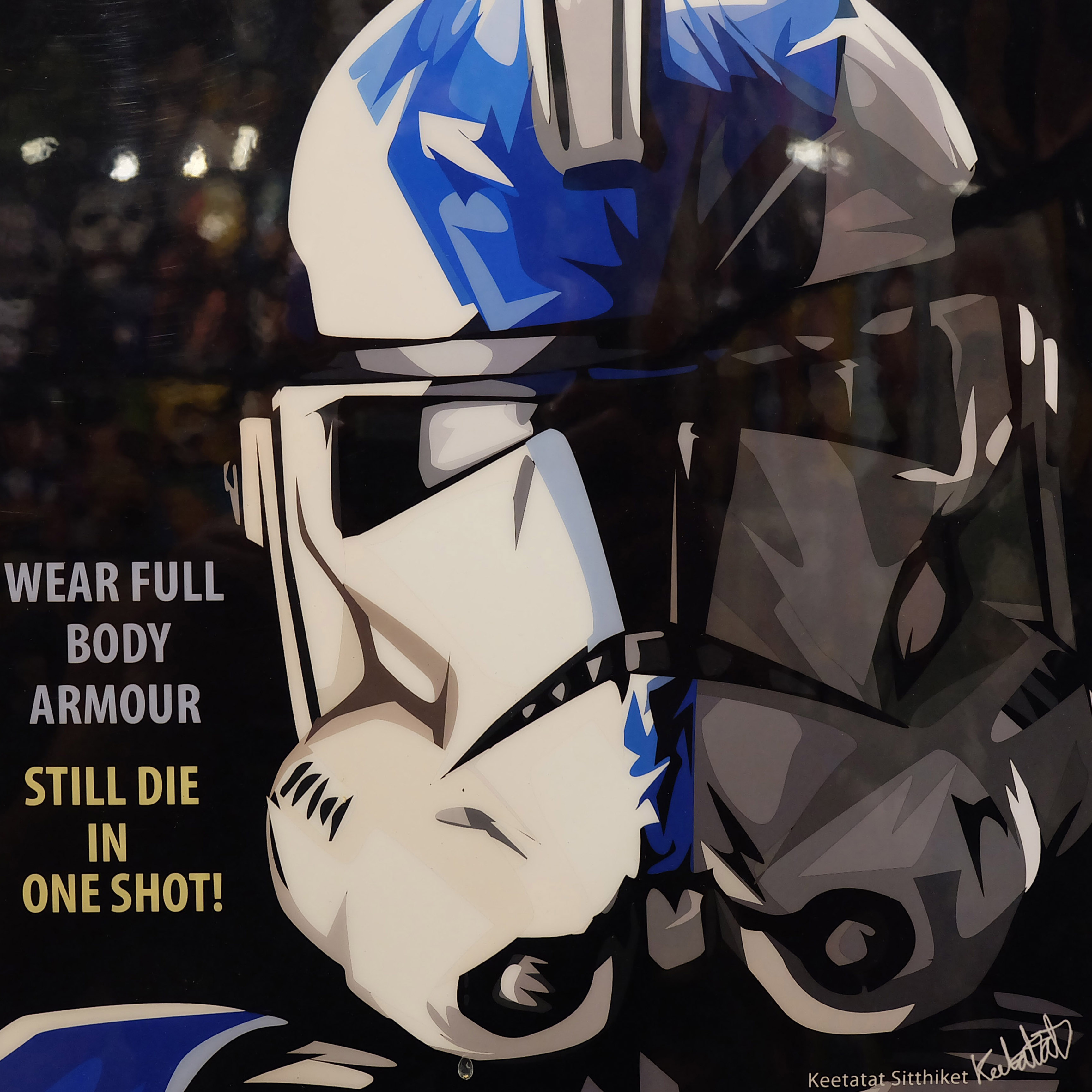 Stormtrooper Pop Art Poster By Keetatat Sitthiket Infamous Inspiration