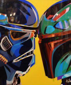 Stormtrooper vs Boba Fett Poster Plaque