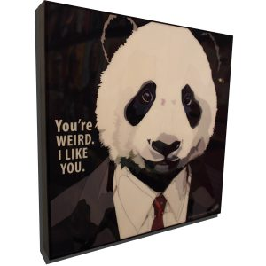 Suited Panda Poster