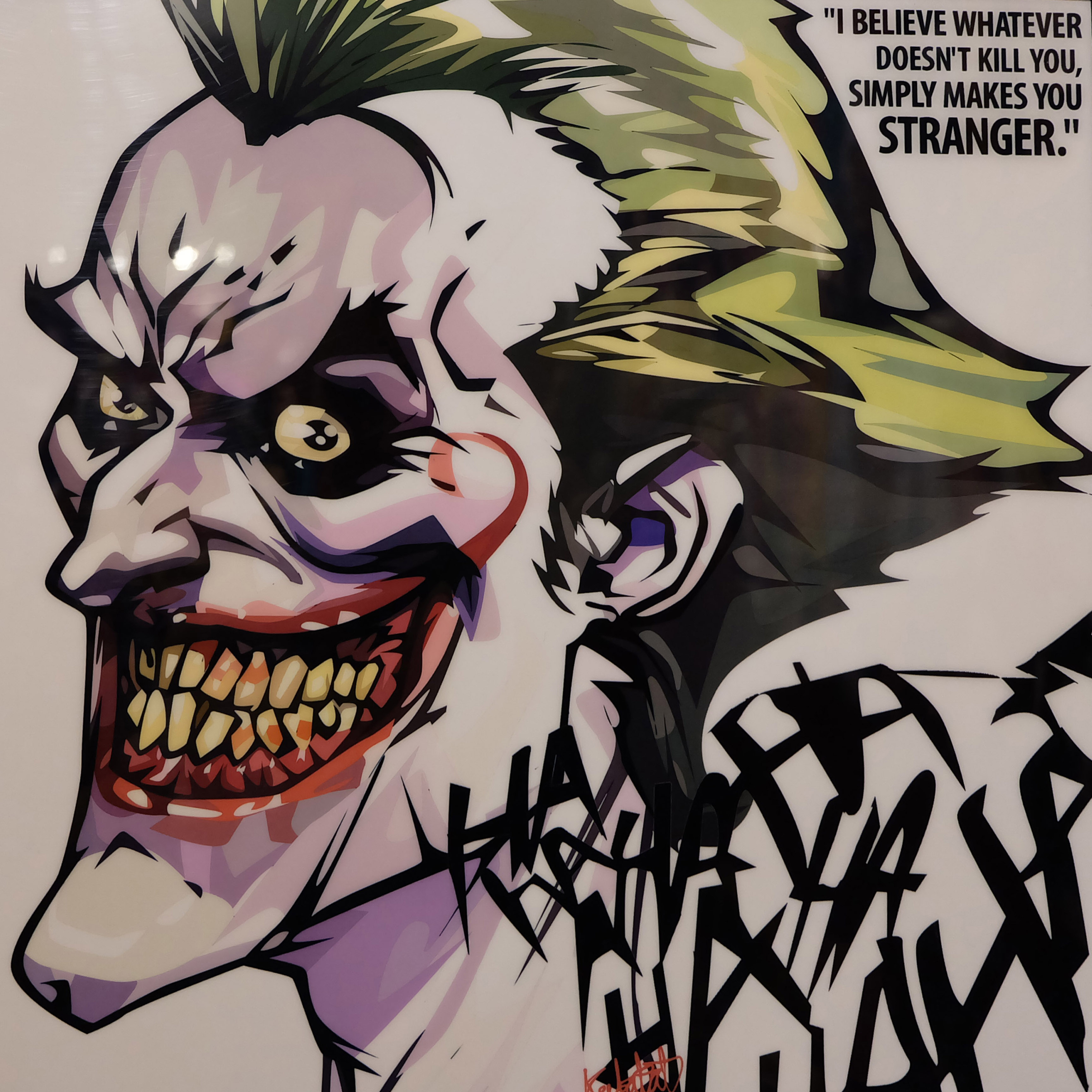 The Joker Pop Art Poster Makes You Stranger